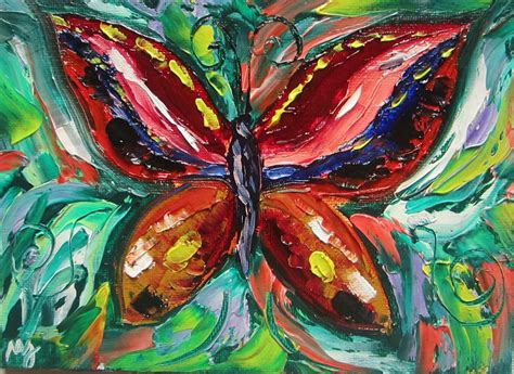painting butterfly paintings by j jimenez colourful butterfly