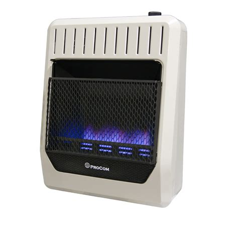 Outdoor Space Heater - ventless natural gas blue flame wall heater 20 000 btu procom heating