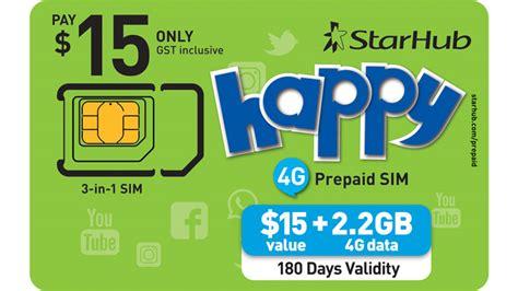 Happy Call 15 Convex prepaid sim starhub mobile