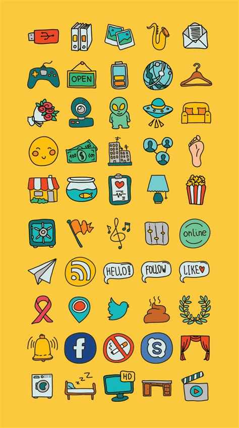 doodle yourself smart 50 doodle icons tutorial zone