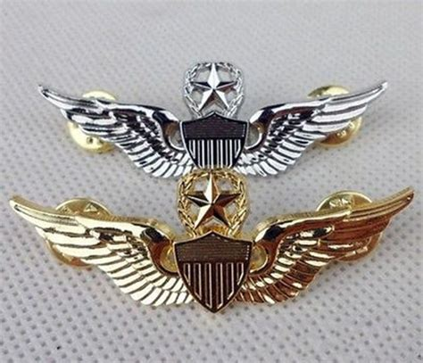Wing Pilot Badge Us Air Usaf Emblem 1 pair usaf u s air pilot metal golden wings badge pin us208 in sports souvenirs