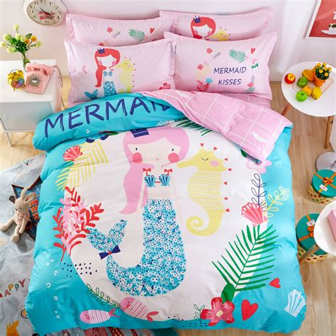 Online Get Cheap Mermaid Bedding Aliexpress Com Alibaba Mermaid Bedding Set