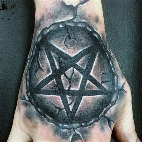 pentagon tattoo 50 pentagram designs for five pointed ideas
