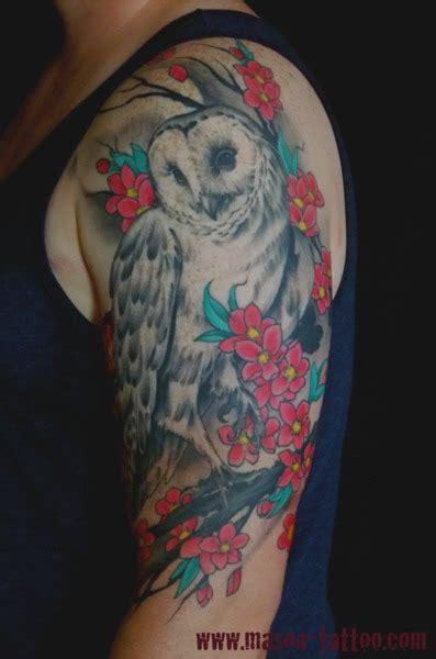 owl half sleeve tattoo half sleeve owl design ideas for tattoos