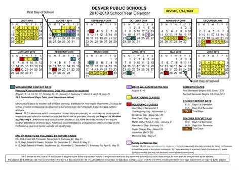 Denver Schools Calendar 2018 19 School Calendar Approved Denver Schools