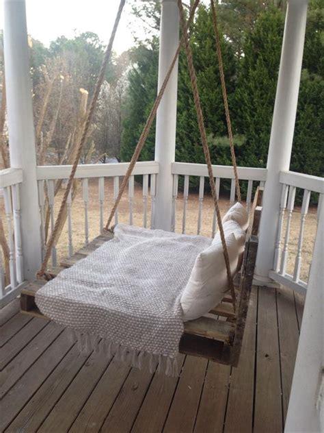 swing bed diy easy diy pallet swing bed
