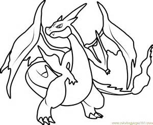 charizard coloring pages mega charizard y coloring page free pok 233 mon
