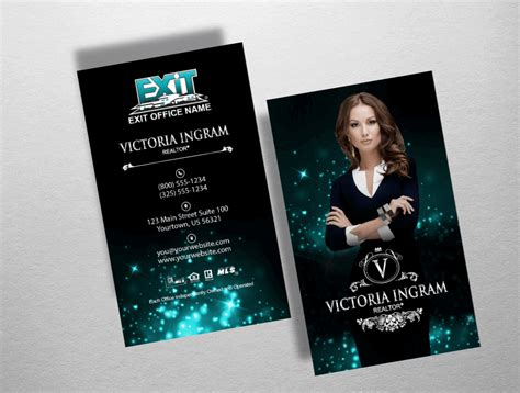 exit realty business cards template exit real estate business cards images card design and