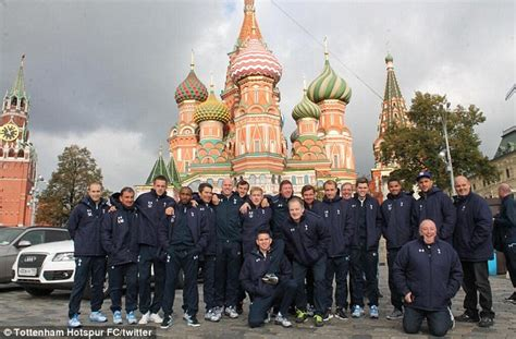 How Big Is A Square Foot tottenham spend the day sightseeing in moscow ahead of