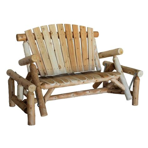 shop lakeland mills 3 seat wood rustic glider at lowes
