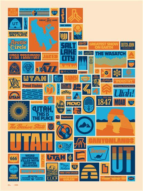draplin design co draplin design co quot your utah quot poster gentlemint