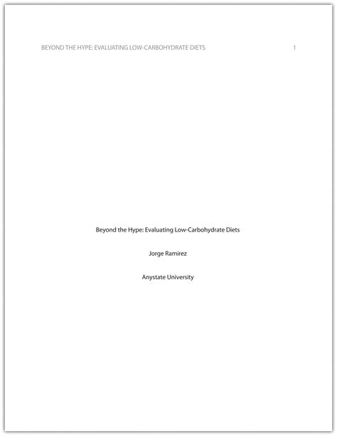 essay format title page formatting a research paper