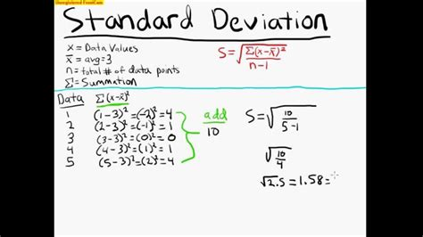 standard deviation exle statistics 100 youtube