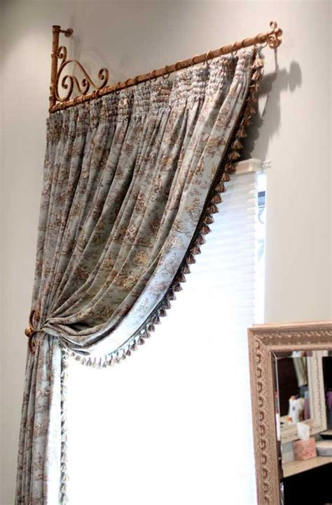 swinging curtain rods for doors swing arm drapery rods are a great solution for french