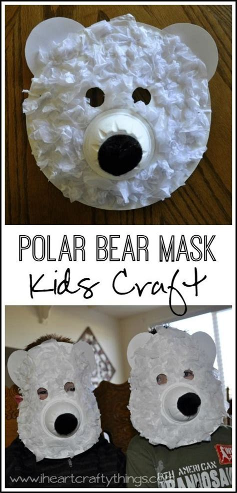 How To Make A Polar Out Of Paper - polar masks mask arctic animals and learning