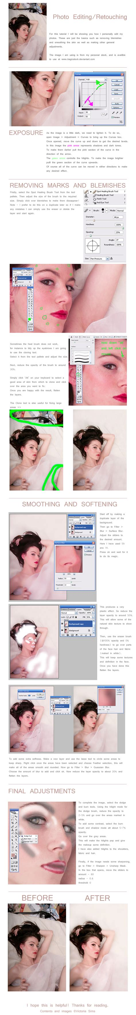 photo retouch tutorial adobe photoshop basic photo editing tutorial by thetragictruth of me on