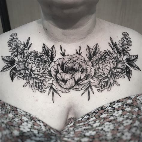 black flower tattoo 52 flower designs for