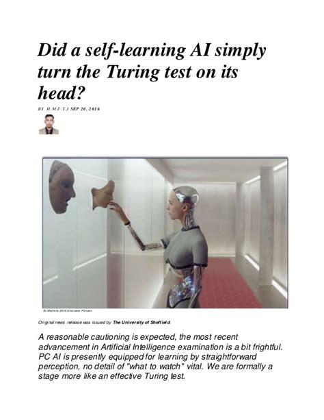 ex machina turing test did a self learning ai simply turn the turing test on its