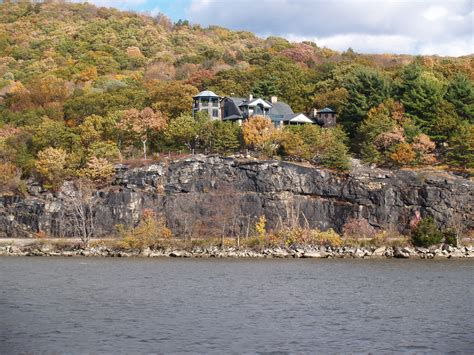 boat cruise in westchester new york view of the scenic hudson river valley on our fall foliage
