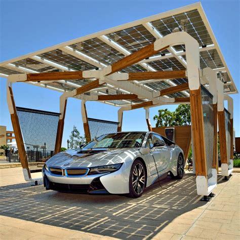 tettoia fotovoltaica bmw la ricarica diventa intelligente con tettoia