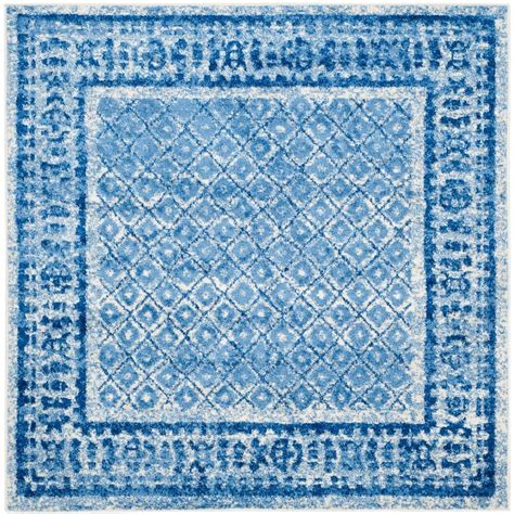 blue square rug safavieh adirondack silver blue 6 ft x 6 ft square area rug adr110d 6sq the home depot