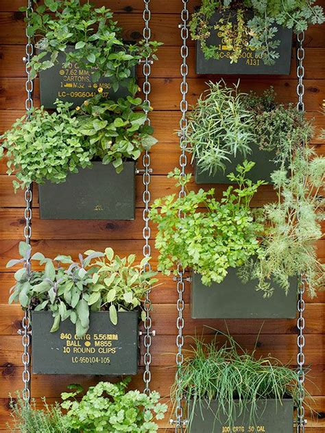dishfunctional designs hanging basket herb garden diy genius vertical garden ideas potted flowers