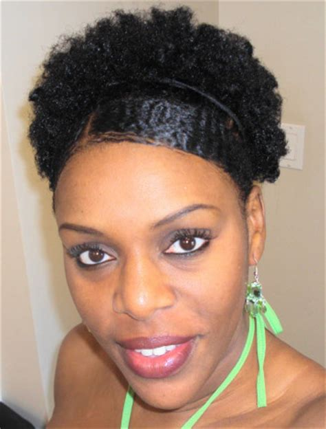 natural hairstyles afro puff slicked down edges natural afro puff thirstyroots com