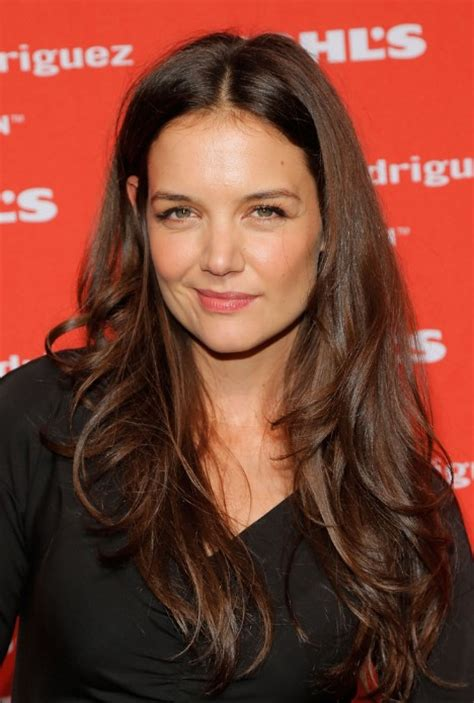 layered long bob katie holmes katie holmes long layered wavy hairstyle hairstyles weekly