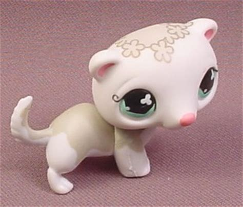 Pet Shop Singles A Ferret littlest pet shop 579 white fancy ferret with gray