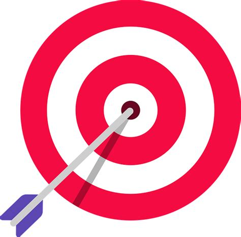 target arrow shooting  vector graphic  pixabay