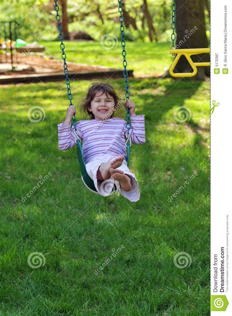 little girl on swing little girl on swing royalty free stock photography