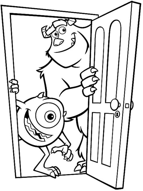 monsters inc coloring pages activity disney movie