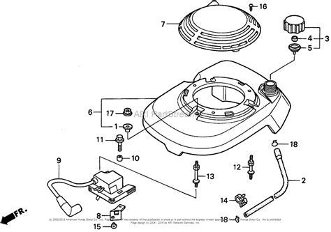 honda hrm pa lawn mower usa vin mzbv   mzbv  parts diagram  fan cover