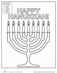 menorah coloring page kindergarten search