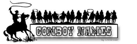 cowboy names some cowboy names from chinaroad lowchens of australia