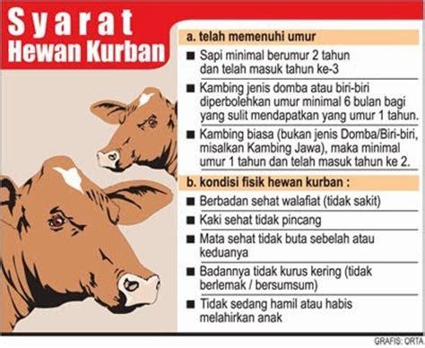 syarat hewan qurban ilmu fiqih islam