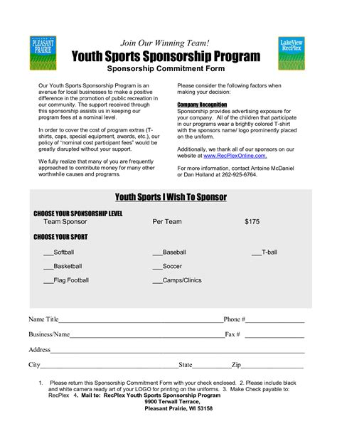 Sponsorship Letter Youth Baseball Sports Sponsorship Letter Sles By Mlw38496 Chainimage