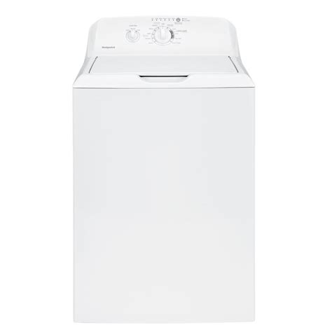 hotpoint 3 8 doe cu ft top load washer in white