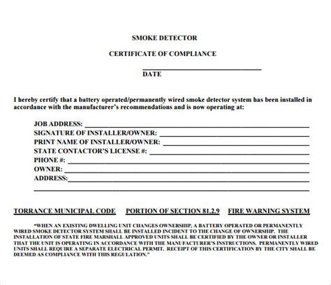 Compliance certificate template electrical compliance sample certificate of compliance 12 documents in pdf yelopaper Choice Image