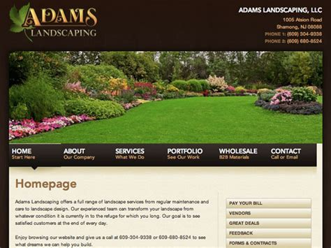be one landscaping websites