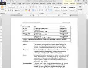 procedure writing templates free sle policies and procedures template