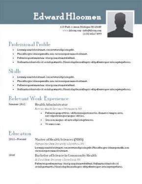 Best Resume Templates For Word by Best Free Resume Templates Health Symptoms And Cure