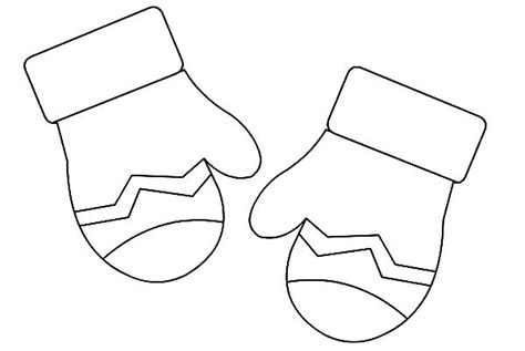 coloring pages of mittens and hats search results for mittens and hat to color free