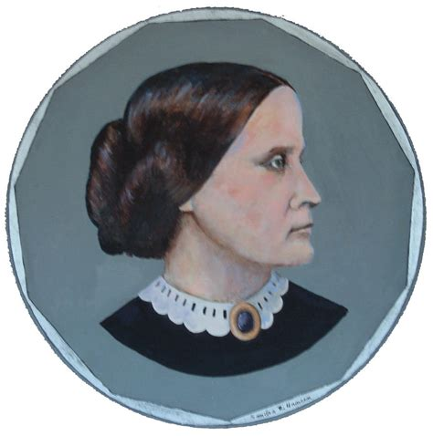 what color is susan b anthony hair susan b anthony coin painting by art nomad sandra hansen