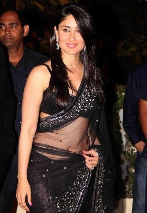 Delois Black kareena kapoor looks damn gorgeous in transparent black saree kareenakapoor bebo