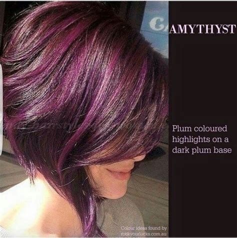 plum black hair color best 25 plum highlights ideas on plum