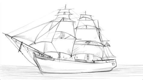 how to draw a boat from the first fleet how to draw a sailing ship youtube