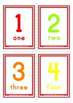 number flashcards printable pdf 6 different sets of number flashcards in classic cartoon