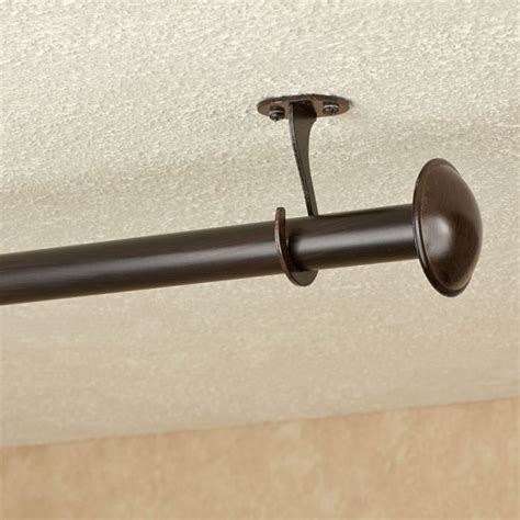 installing curtain rods how to install ceiling mounted curtain rods curtain