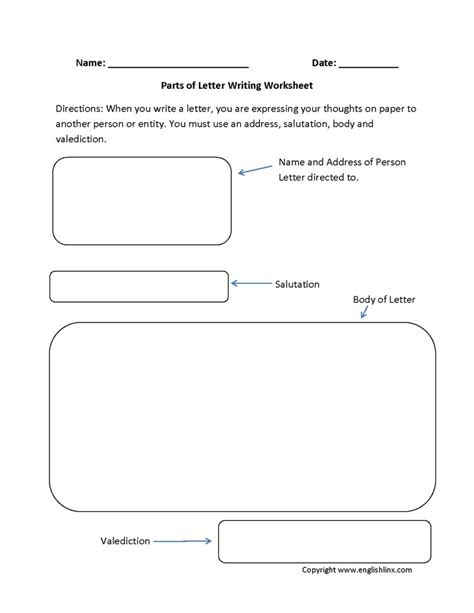 Writing A Business Letter Grade 4 informal letter writing worksheets for grade 3 essay